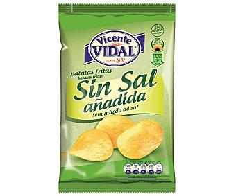 Vidal Patatas fritas artesanales bajas en sal con aceite de girasol Bolsa 140 g