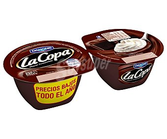 DANONE LA COPA Postre de chocolate y nata  pack 2 unidades 110 g