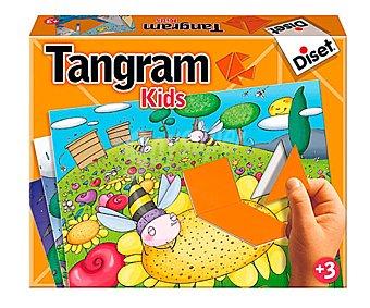 DISET Juego de habilidad y lógica que incluye 6 puzzles tangram para niños, Tangram Kids 1 unidad