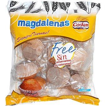 Codan Magdalenas Free sin conservantes ni colorantes 10 unidades bolsa 350 g 10 unidades