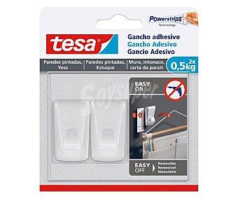 Tesa Tape Gancho adhesivo para papel pintado y yeso 0,5 kg, tesa. 0,5 kg