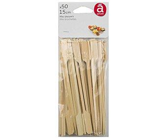 Actuel Pinchos de madera para aperitivo, 15cm. de largo, , actuel 50 unidades