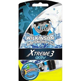 Wilkinson Maquinilla de afeitar desechable Activ Comfort Xtreme 3 bolsa 4 unidades + 2 gratis Bolsa 4 unidades