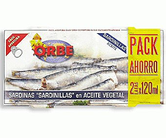 Orbe Bipack Sardinilla Aceite Vegetal 156 Gramos
