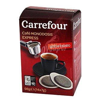 Carrefour Café Natural Descafeinado Monodosis para cafetera express 98 g