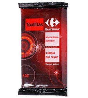 Carrefour Toallitas limpia vitrocerámica 20 unidades