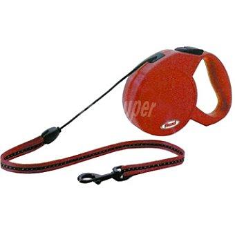 BIOZOO AXIS FLEXI CLASSIC Correa extensible color rojo cordón de 8 metros para perros de peso aproximado 20 kg 1 unidad