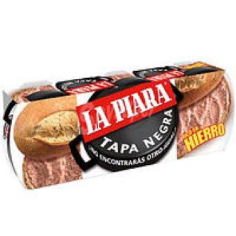La Piara Tapa Negra Paté Pack 3+1x75 g