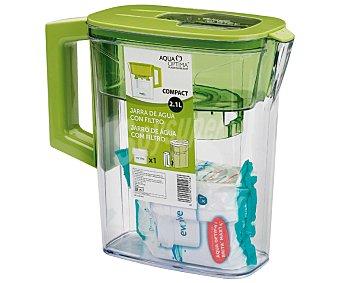 Aqua optima Jarra purificadora de 1,2 litros, color verde 1 Unidad.