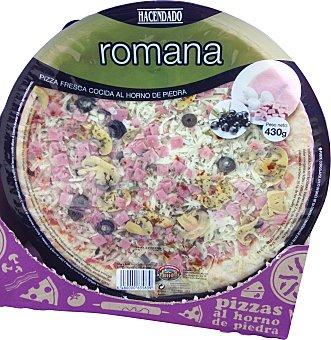 Hacendado Pizza fresca romana (jamon, aceitunas, champiñon) 430 g