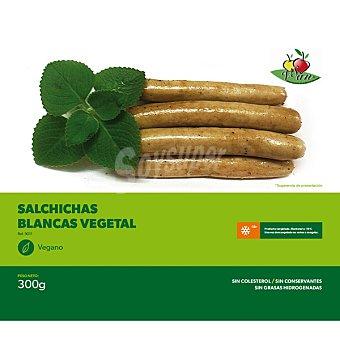 VEGESAN Salchichas blancas vegetales sin colesterol congelado vegano Envase 300 g