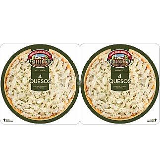 Casa Tarradellas Pack pizza 4 quesos 450 G