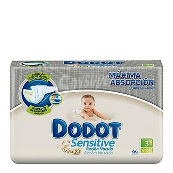 Dodot Sensitive Pañal recién nacido Talla 3 (5-10 kg.) 40 ud
