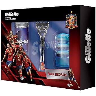 Gillette Pack especial Mundial de fútbol con maquinilla manual + gel de afeitar + 3 recambios