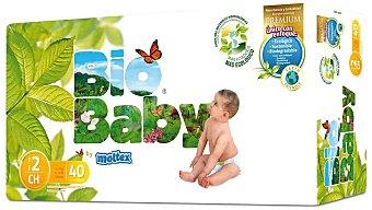 BIO BABY Pañal Ecológico Talla 2 Paquete 40 unid