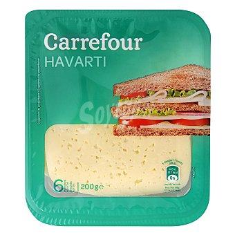 Carrefour Queso havarti en lonchas 200 g