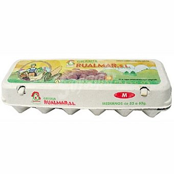 RUALMAR Huevos morenos clase M Estuche 1 docena