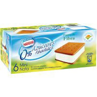 Nestlé Mini sandwich de nata Pack 6x50 ml