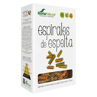 Soria Natural Espirales elaboradas con harina integrales de escanda ecológico Envase 250 g