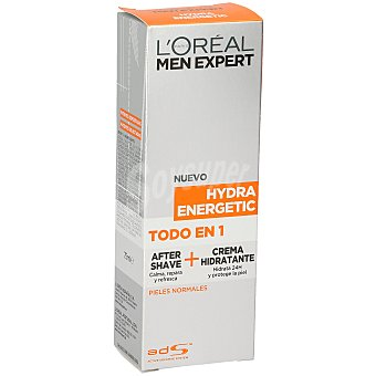 L'Oréal Men Expert After shave + crema hidratante Hydra Energetic para pieles normales 75 ml