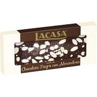 Lacasa Turrón praline chocolate negro con almendras 250 g