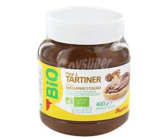 Auchan Crema al Cacao Con Avellanas Procedentes de Agricultura Ecológica 400g