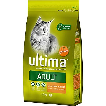 Ultima Affinity Rico en pollo y arroz para gatos Health Cat Paquete 1500 g