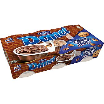 Danet Danone Chocolate con galletas Chips Ahoy Kruj'it Mix Pack 3 unidades 118 g