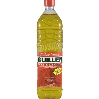 Guillen Aceite de oliva sabor suave 04º Botella 1 l