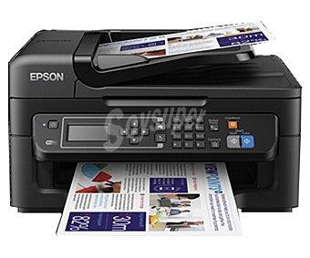 EPSON WORKFORCE WF2630WF Impresora multifuncional inyección wifi Imprime, copia, escanea y envia fax, Pantalla lcd, alimentador automático de documentos de 30 páginas, impresion desde Smartphone, Tablet o PC inalámbricamente,