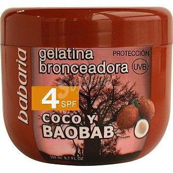 Babaria Gelatina bronceadora coco y baobab FP-4 Tarro 200 ml