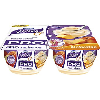 Vitalínea Danone Yogur melocoton Pack de 4x135 g