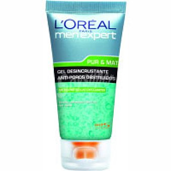 Men Expert L'Oréal Paris Gel exfoliante pur&mat l¿oreal Tubo 150 ml