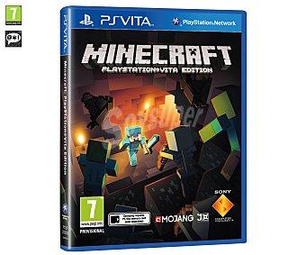 ESTRATEGIA Videojuego Minecraft para psvita. Género: Construcción, Aventura, Plataformas. Recomendación por edad PEGI:+7 - 1 Unidad