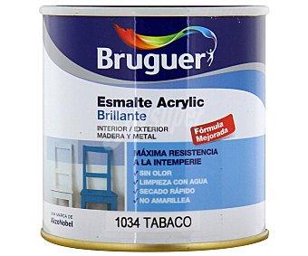 Bruguer Esmalte decorativo acrílico, de color marrón tabaco y con acabado brillante 0,25 litros