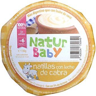 NATURBABY Natillas con leche de cabra 100% natural Envase 130 g