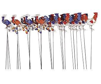 PROFILINE Pincho decorativo de jardín con formas de gallos de 94 centímetros 1 unidad