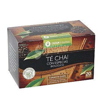 Intermón Oxfam Té chai con especias Estuche de 20 unidades