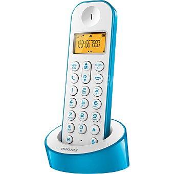 Philips D1201WA/23 Teléfono inalámbrico en color blanco y azul
