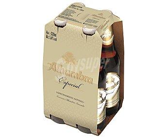 Alhambra Cerveza especial 4 botellas de 33 cl