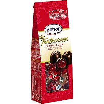 Zahor Tus Tentaciones bombones de chocolate rellenos de guindas al licor Bolsa 115 g