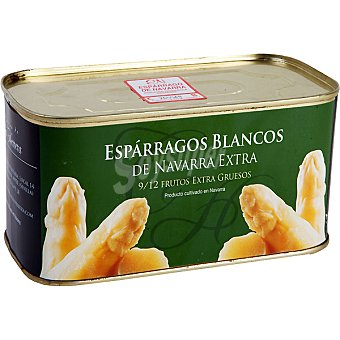 LA ALACENA DE CARLOS HERRERA Espárragos blancos extra gruesos D.O. Navarra 10 piezas Lata 500 g neto escurrido