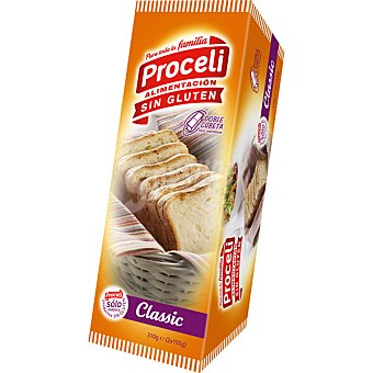 Proceli pan de molde clásico sin gluten Bolsa 310 g