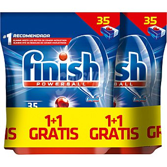 Finish Detergente lavavajillas Power Ball todo en 1 bolsa 35 pastillas
