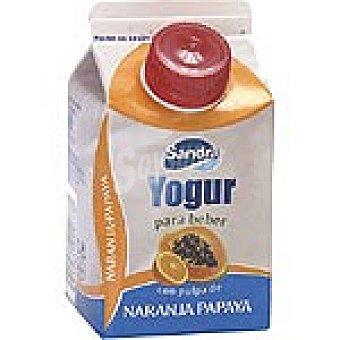 Sandra Yogur líquido con pulpa de naranja y papaya Envase 250 g