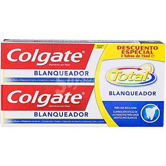 Colgate Total Pasta de dientes blanqueadora pack 2 tubo 75 ml Pack 2 tubo 75 ml