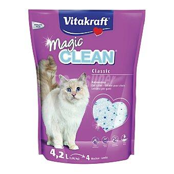 Magic Clean Vitakraft Arena perlas gel silice gatos Paquete 4.2 l