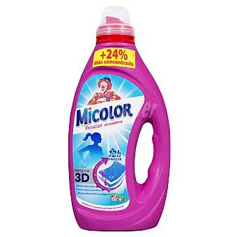 Micolor Detergente lavadora liquido frescor duradero Botella 1100 ml