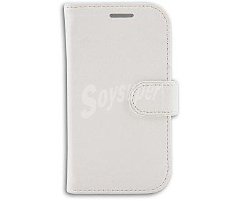 Auchan Funda con tapa para Samsung Galaxy Trend Lite Folio blanco
