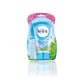 Veet Crema depilatoria ducha piel sensible Bote 150 ml